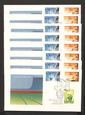1984 FDC0943 LOS ANGELES OLYMPICS Set 8 CITY PMKS FDCs