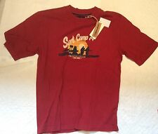 Mens T-Shirt Onfire Pacific Surf Camp Red T-Shirt Size S New (C-51)