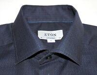 ETON Men's Contemporary Fit Long Sleeve Button Front Dress Shirt size 15¾ (40) M