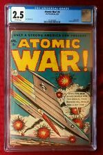 Atomic War! #4 CGC 2.5 1953 Ace Periodicals Used in POP Off-White