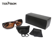 Tourbon Vintage Shooting Glasses Over Fit Sunglasses Set Motorcycle Protection