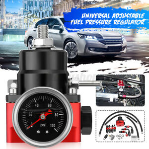 Universal Adjustable Fuel Pressure Regulator Set AN 6 Fitting End &100 Psi Kit