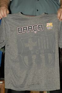 FC Barcelona Barca polyester pull over official team warm up jersey t shirt XL