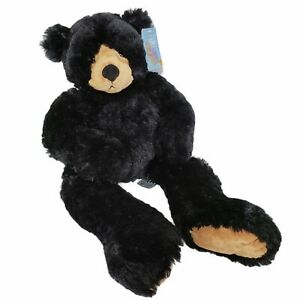 """2004 Second Nature Design Simply Irresistible Black Plush Teddy Bear 24"""" w/ Tags"""