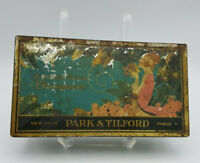 Park & Tilford Vintage 1920's Hinged Lid Candy Chocolates Art Deco Tin