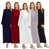 Muslim Women Long Dress Abaya Islamic Maxi Party Kaftan Arab Jilbab Robe Gown