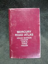 MERCURY DEALER ROAD ATLAS-Collectible-Capri-Marquis-Sable-Topaz-Maurader-Cougar