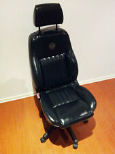 Alfa Romeo Seat Office Chair Leather Height & Tilt Adjustable Genuine 156 BLACK