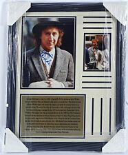 "Gene Wilder ""Willie Wonka"" Signed Photograph Framed PAAS Certified"