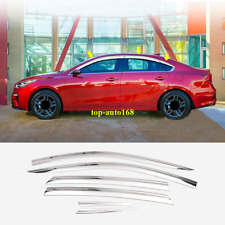 Fit For Kia Forte 2019-2020 Chrome Window Visor Vent Shades Sun Rain Guard 6pcs