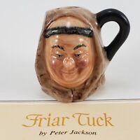 Franklin Mint Vintage Friar Tuck Miniature Figure 1983 Toby Mug Jug Stein Signed