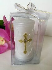 12-Communion Candles Party Favors Cross Recuerdos Comunion Vela Confirmation