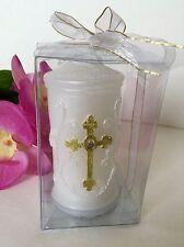 12-Communion Candles Party Favors Cross Recuerdos Comunion Vela Confirmation