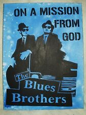Lienzo The Blues Brothers Movie misión de Dios Arte 16x12 pulgada de acrílico