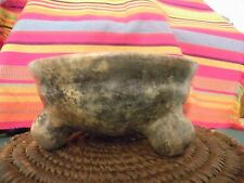 Chrome South America  Pre Colombian Native  Pottery 3 leg Tripod, Rattle Bowl