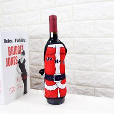 Christmas Santa Wine Bottle Apron Cover Xmas Wrap Dinner Party Table Decoration