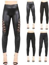 Pantalones de mujer de piel sintética