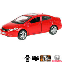 1:36 Scale Diecast Metal Model Car Honda Civic Red Die-cast Toy