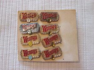 Vintage Wendy's Employee Year Service/Loyalty Metal Pins Set/Lot of 8 Fast Food