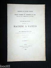 Données relatives à la Machine à Vapeur - Dwelshauvers-Dery 1898 - 2e fascilule