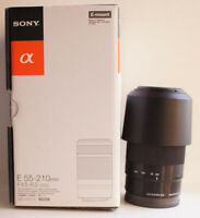 Sony E Mount 55-210mm f/4.5-6.3 OSS SEL55210 Black Lens w/ Box