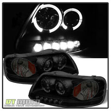 Black Housing Smoke Lens 97-03 Ford F150 Expedition Halo Projector LED Headlight
