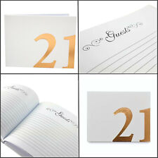 Rose 21st Birthday Guest Book by Landmark Authentic