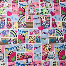 "Fabric Spring Creative 1 Yard X 43"" ""Shopkins Patch Party"" Cotton Quilting #3V96"