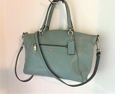 Coach Mineral Blue Small Pebble Leather Prairie Satchel Shoulder Bag #58874 GUC