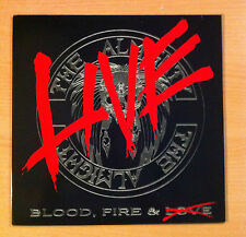 """THE ALMIGHTY """" Blood, Fire & Live"""" - Vinyl Lp 12"""" -Polydor  847 107 1 - 1990 UK"""