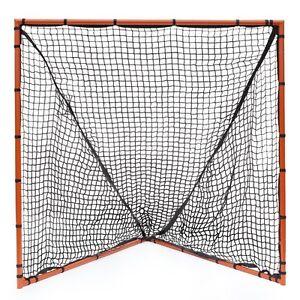 """New Champion Lacrosse 6'x6' Heavy Duty Full Size Goal 1.5"""" Steel Tubes 2.5mm Net"""
