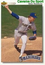 572 ERIK HANSON SEATTLE MARINERS  BASEBALL CARD UPPER DECK 1992