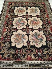 Area Rug Fine Needlepoint Flat Pile Panel design 4.0 x 6.0 Excellent Price .