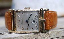 BULOVA 5TH Avenue ART DECO Gents 10K laminato gold watch c1950's - RARE!