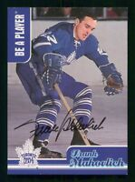 FRANK MAHOVLICH  99-00 ITG BE A PLAYER AUTOGRAPH 1999-00 CH-4 23511