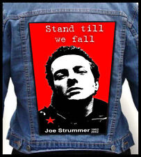 JOE STRUMMER - Stand Till We Fall --- Giant Backpatch Back Patch