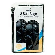 2 Pack Travel Suit  Bags Clothes Coat Garment BagsZip Up Hanging Cover Protector