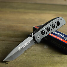 Smith & Wesson Extreme Ops 7Cr17 Part Serrated Black Tactical Knife CK5TBS