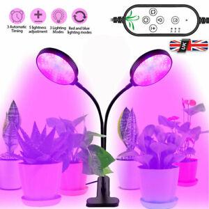 LED Grow Light Hydroponic Indoor Timer Plant Lamp Full Spectrum for Veg Flower