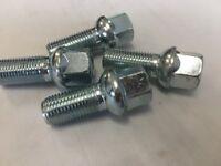 4 x wheel bolts nuts lugs M14 x 1.5 17mm Hex 30mm thread Radius seat. VW Audi