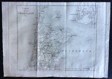 1818 CARTE NORD HOLLANDE original map North Holland Noord-Holland Netherlands