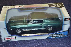 1967 Ford Mustang GTA Fastback 1:18 Green by Maisto Special Edition