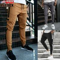 Mens Cargo Trousers Slim Fit Jogging Joggers Combat Work Tracksuit Bottoms Pants