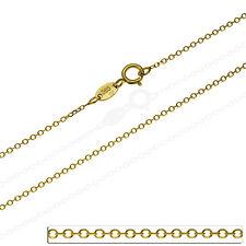 Goldkette Rund Ankerkette Massiv Echt Gold 585 14K Damen Gelbgold Halskette 40cm