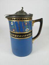Sadler Burslem Teapot Jug with Hinged Lid Hand Painted Vintage Staffordshire
