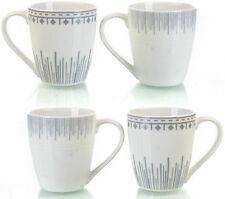 Set di 4 PORCELLANA elegante Caffè Tazze lavastoviglie e forno a microonde SCATOLA REGALO