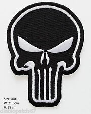 "Punisher Skull Full Back Size 8.5 x 11"" Military Tactical Airsoft Jacket Patch"