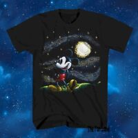 New Disney Mickey Mouse Starry Night  Mens Classic Vintage T-Shirt