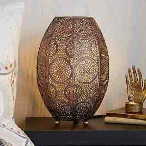 Gorgeous & Radiant Rosario Moroccan Copper Table Lamp For Home Decor