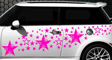 93 Sterne Star Auto Aufkleber Set Sticker Tuning Shirt Stylin WandtattooTribel b